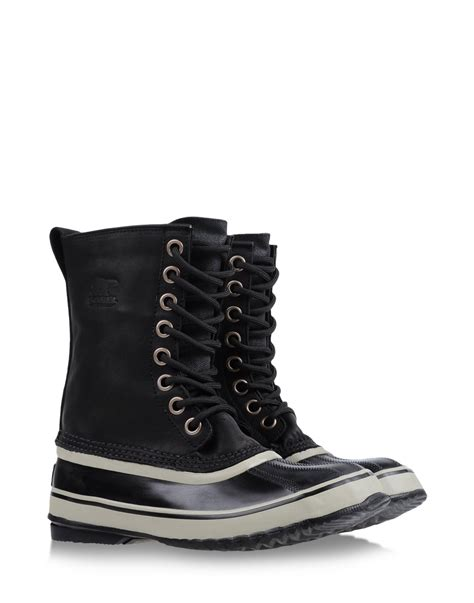 sorel boots sorel cold weather boots in black lyst