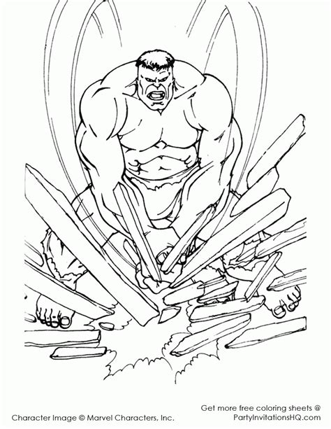 Hulk Avengers Coloring Pages Kids