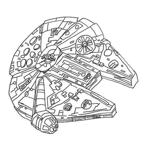 star wars millennium falcon coloring page dsc millenium falcon by hieloh on deviantart