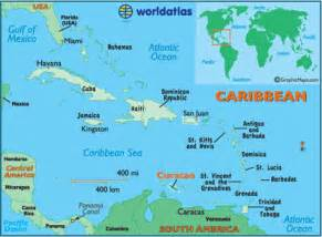 map of south america and caribbean islands curacao latitude longitude absolute and relative