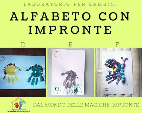 con lettere lettere alfabeto con impronte d e f lavoretti bambini
