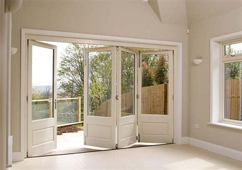 Bi Fold Doors Patio White Timber Bifold Doors Open House Reno