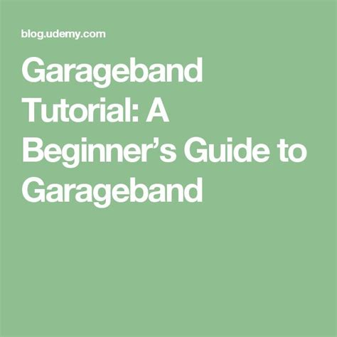 Garageband X Guide 1000 Ideas About Garageband On