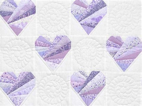 Lavender Patchwork Quilt - patchwork hearts quilt wonderful smartly made amish