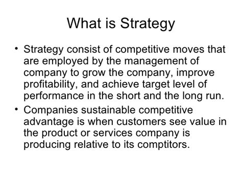 What Is An Mba In Strategy by Mba 700 2 Process Of Strategic Planning 1