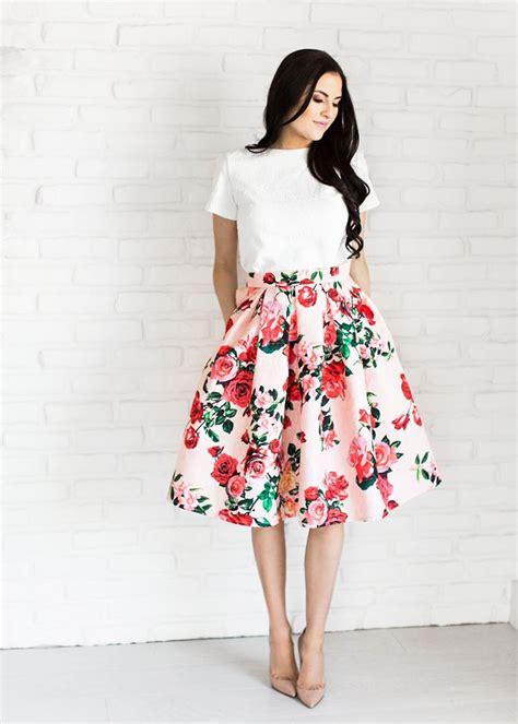 Flower Skirt Rok best 25 floral skirts ideas on wedding guest