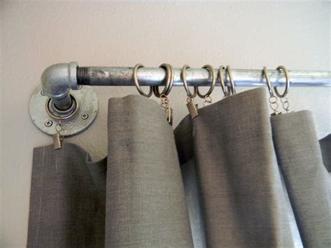 industrial looking curtain rods diy curtain rods rustic crafts chic decor