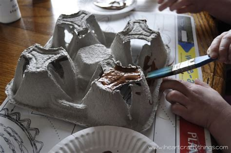 How To Make A Mountain Model Out Of Paper - 3 d snowy mountain winter craft out of recycled drink
