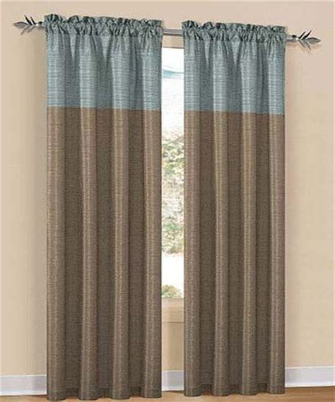Duck River Textile Curtains Duck River Textile Aqua Chocolate Two Tone Avanel Curtain Panel Set Of Two Aqua Curtains