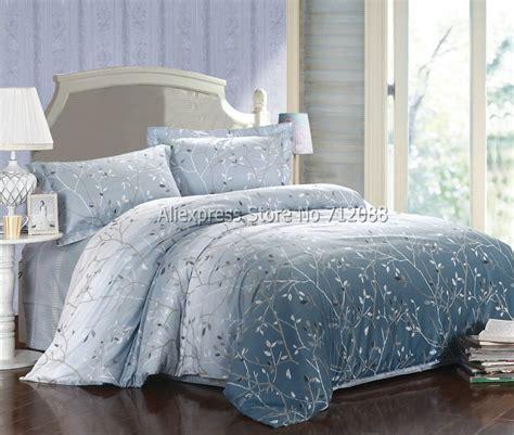 blue bed linen duvet sets aliexpress buy bedlinen 4pcs king cotton
