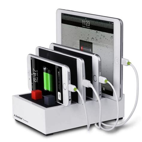 desk l with usb charging station avantree powerhouse multi device usb desk charging station
