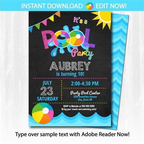 swimming pool invitations templates 25 best ideas about pool on