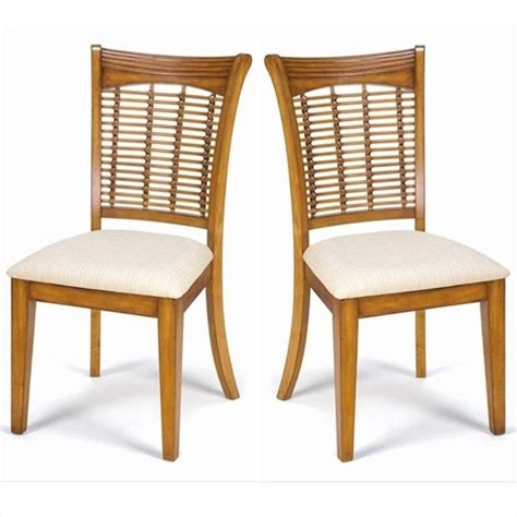 hillsdale bayberry fabric dining chair in oak finish set