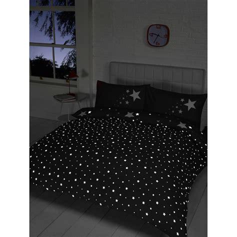 glow   dark double duvet set black bedding