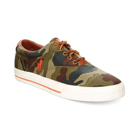 ralph polo shoes ralph polo vaughn camo sneakers in green for lyst