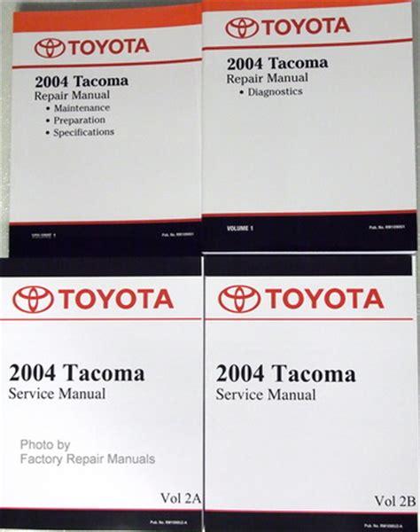 service manual toyota tacoma factory 2001 04 service manual automotive heavy equipment 2004 toyota tacoma factory service manual set original shop repair factory repair manuals