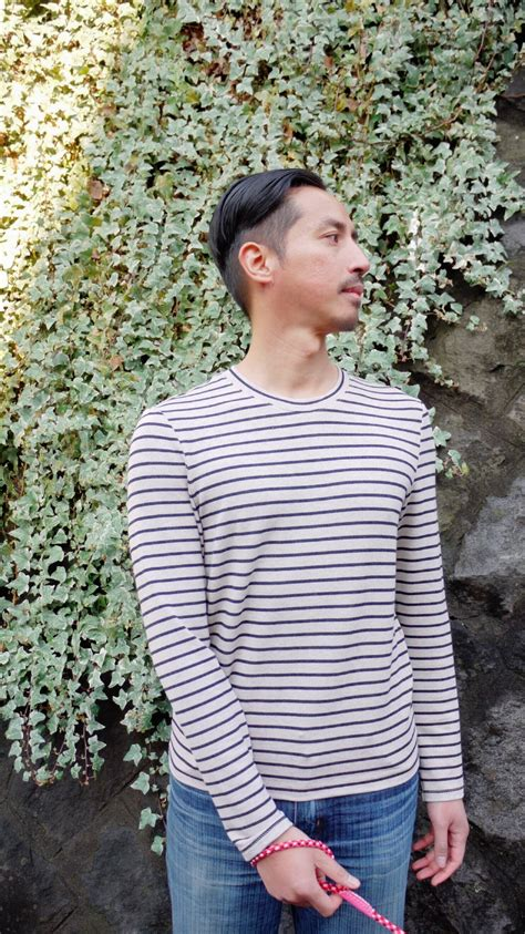 sewing pattern henley shirt striped strathcona henley sewing projects burdastyle com