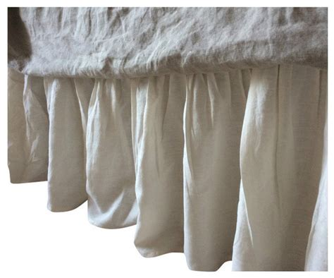 cal king bed skirt cream linen bed skirt cal king 20 quot drop bedskirts by