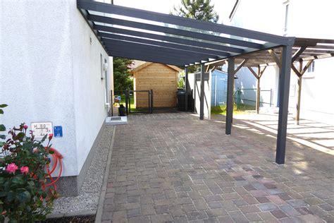 carport glasdach anbaucarport aus aluminium typ g
