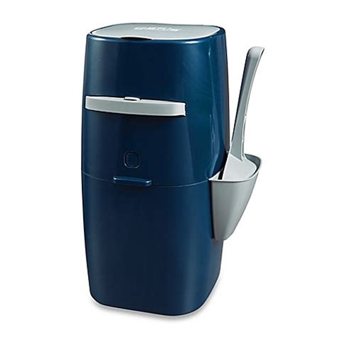 litter genie plus pail cat litter disposal system in navy blue bed bath beyond