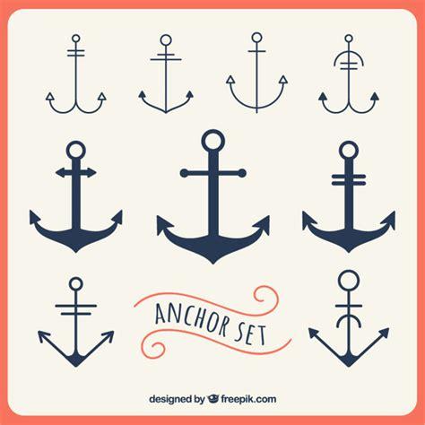 anker en anker ankers set vector gratis download