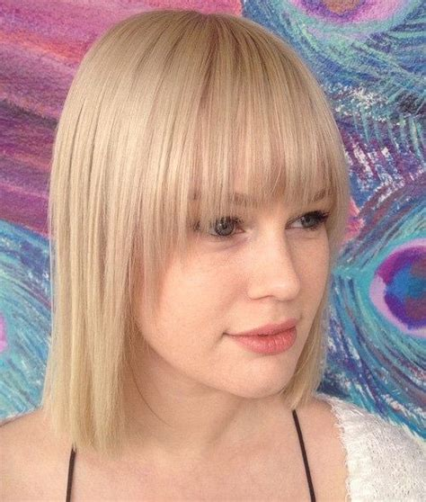 blonde bob hair with fringe 40 сharming short fringe hairstyles for any taste and occasion