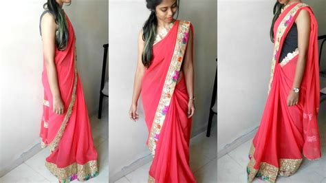 perfect saree draping how to wear a saree perfectly saree draping to look slim