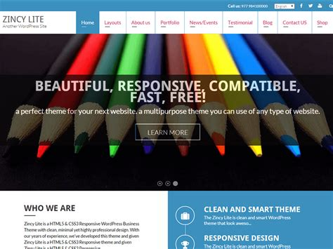 wordpress themes free for commercial use 30 best free responsive wordpress themes 2018