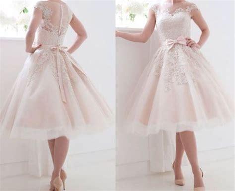 Kurze Hochzeitskleider Mit Spitze by Kurze Spitze Hochzeitskleider Mit Bogen Brautkleider