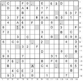 5 best photos of super sudoku 16x16 print monster sudoku gc2dqzn mcfarland s south side super sudoku unknown cache