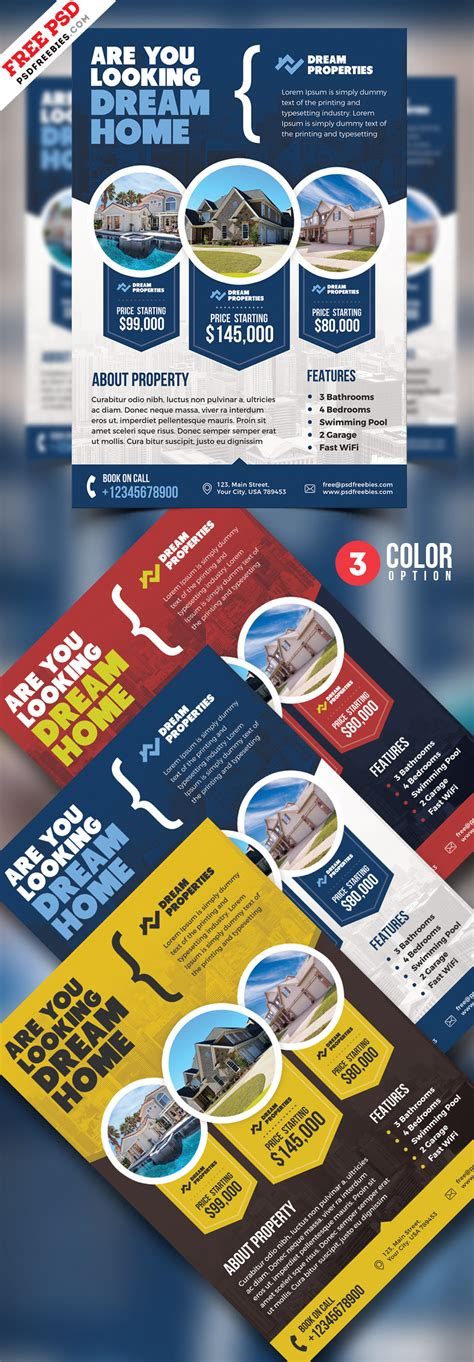 Real Estate Flyer Templates Psd Free Download