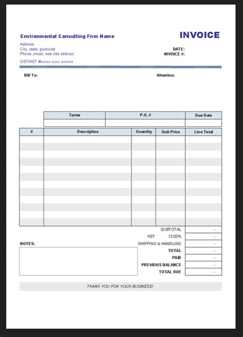 blank business invoice template printable invoice forms studio design gallery best