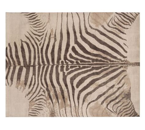 zebra rug zebra printed rug pottery barn