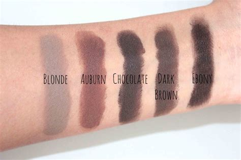 anastasia brow pomade swatches swatches of anastasia beverly hills dipbrow pomades