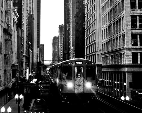 black and white l chicago l black and white photograph by benjamin yeager