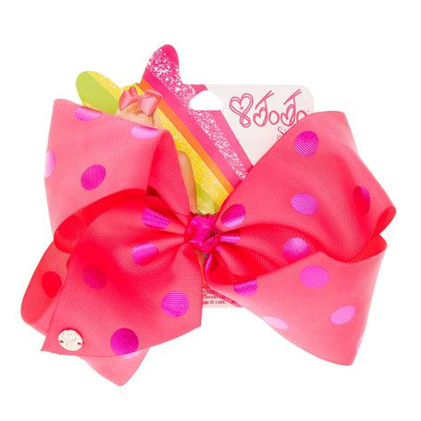 Jojo Siwa Bow By Timorashop jojo siwa large pink purple polka dot hair bow s us