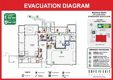 evacuation plan template nsw evacuation diagrams