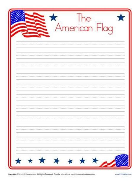 history of writing paper american flag printable lined writing paper writing