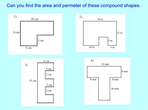 Area Compound Shapes Worksheet Answers by Mr Kent S Lesson 4 July S3 7 F