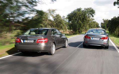 mercedes e350 vs bmw 535i motortrend comparison 2011 bmw 535i vs 2010 mercedes