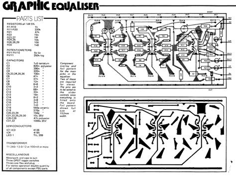 Pcb Equalizer 10channel 20 band graphic equalizer electronic schematic diagram
