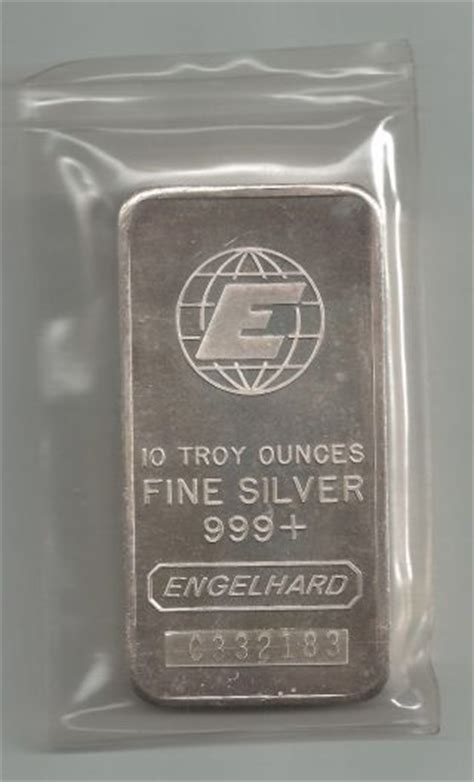 10 Troy Ounces Of Silver Engelhard - bullion silver bars rounds price and value guide