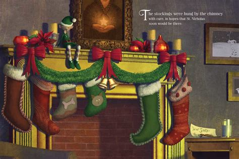 night  christmas book  clement  moore antonio javier caparo official