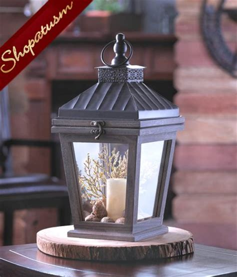 metal lantern centerpieces 36 bungalow candle lanterns centerpieces wood and metal