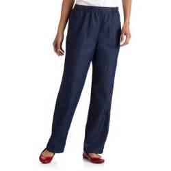 white stag women s elastic waist woven pull on pants walmart com