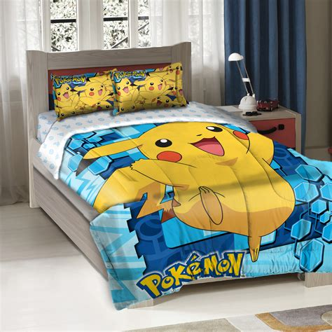 pokemon comforter queen pokemon big pikachu twin full bedding comforter set
