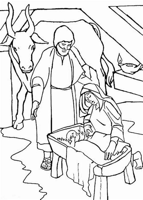 Bible Christmas Story Coloring Pages - Coloring Home