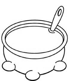 Soup Pot Coloring Page Large Pages  Clipart Kid sketch template