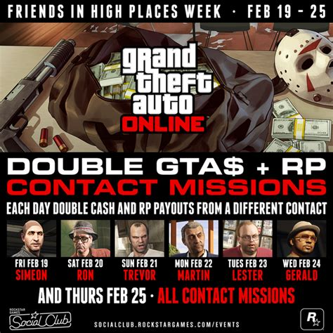 gta double rp contact missions