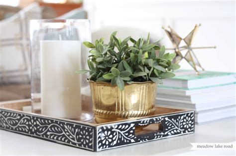 coffee table tray decor write